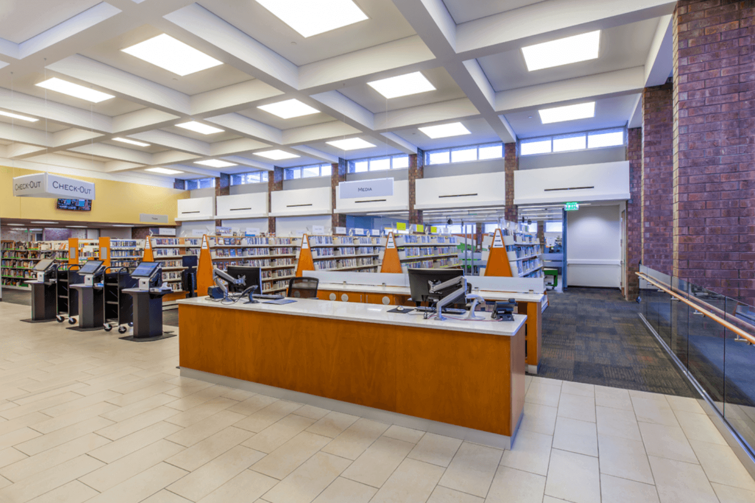 Deerfield Public Library Make Space Renovation Project lobby