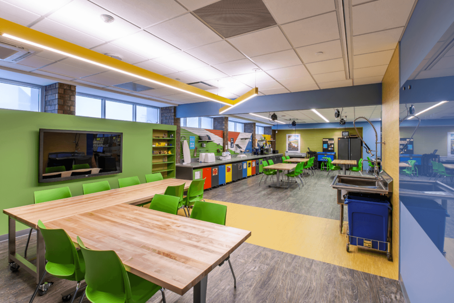 Deerfield Public Library Make Space Renovation Project room2