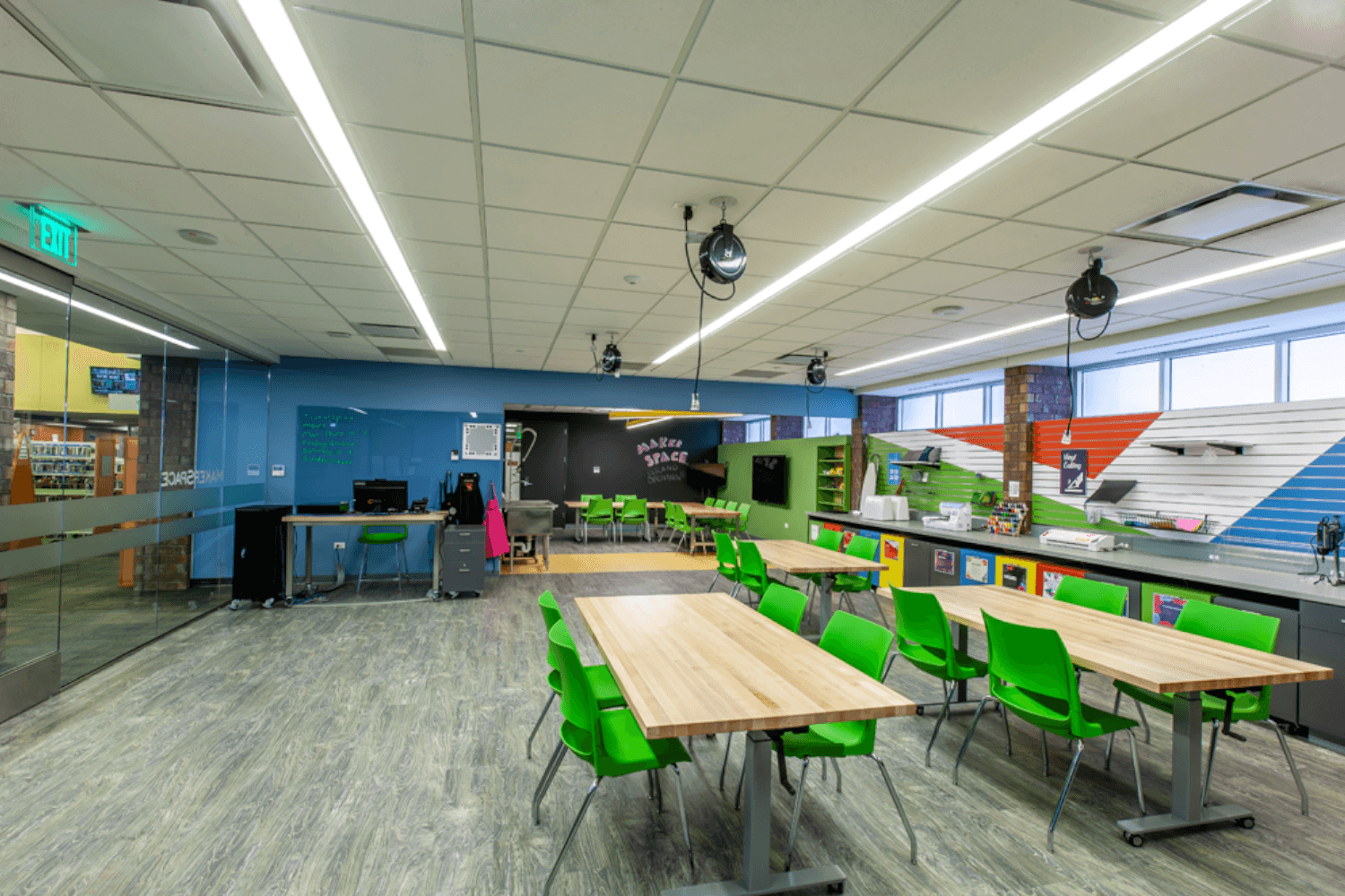 Deerfield Public Library Make Space Renovation Project tables