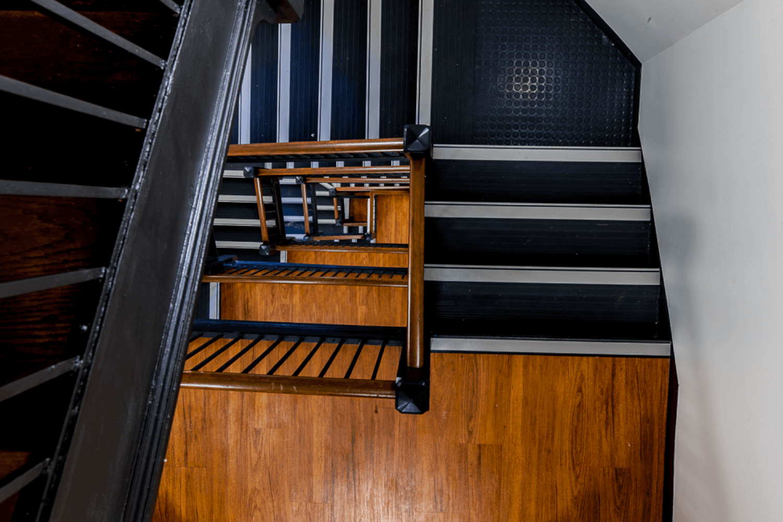 Northwestern University – Phi Gamma Delta Renovation stairs